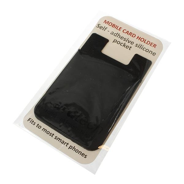 Kortholder for mobil med lim