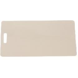 Plastkort hvite med avlangt hull kortside