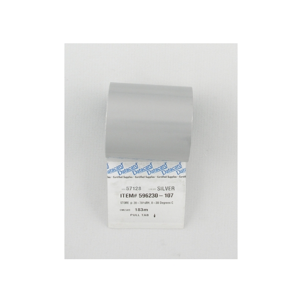 Fargebånd Datacard Sølv IC4,285