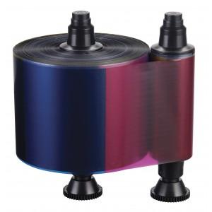 Fargebånd EVOLIS Quantum2 YMCKO-K 500 kort