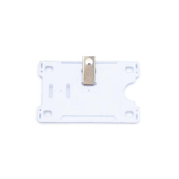 Kortholder Cardkeep hvit m/klype, horisontal