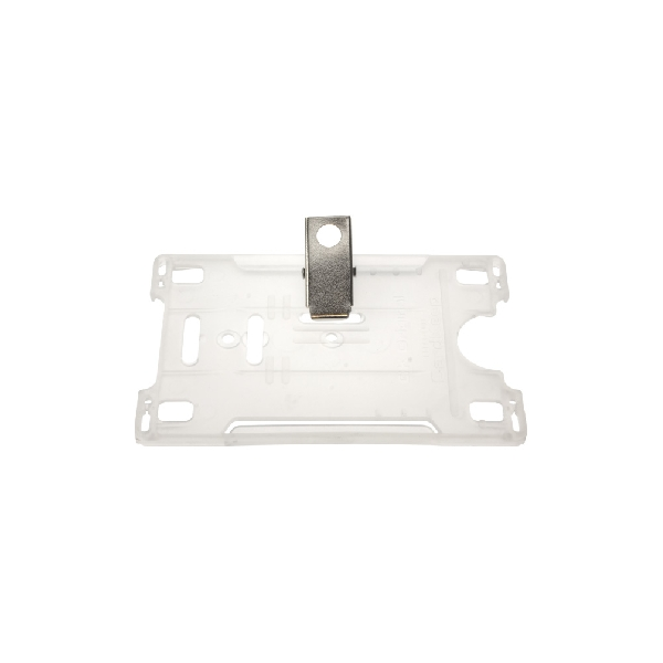 Kortholder Cardkeep transp m/klype, horisontal