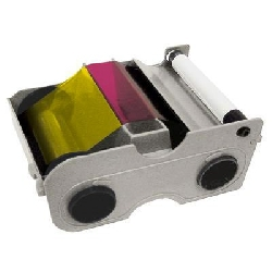 Fargebånd DTC4000 YMCFKOK med fluoriserende overlay 175 kort