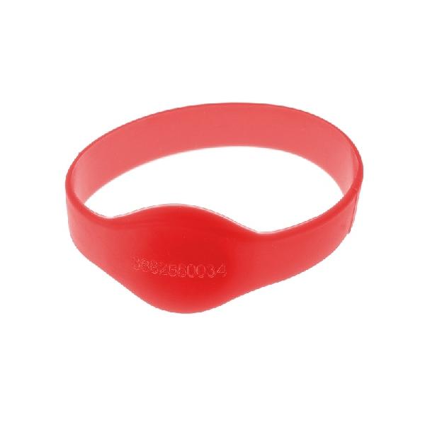 Armbånd Mifare 1k Rød 60mm m/UID