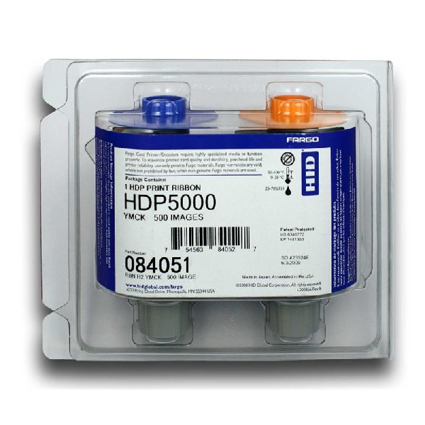 Fargebånd Fargo YMCK 500 kort (HDP8500)