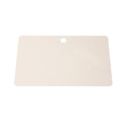 Plastkort hvite med rundt hull langside