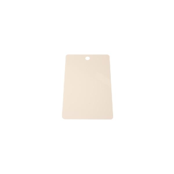 Plastkort hvite med rundthull kortside