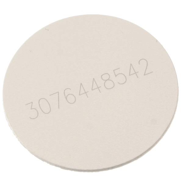 Sticker 4x50 kodbar 30 mm hvit