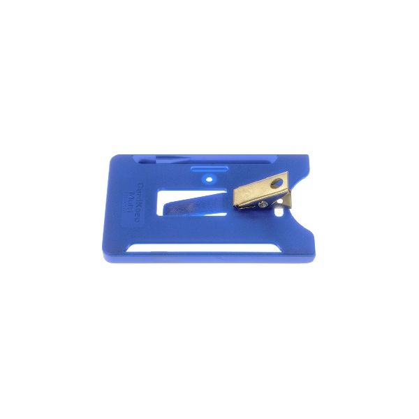 Kortholder Cardkeep5 blå, vertikal