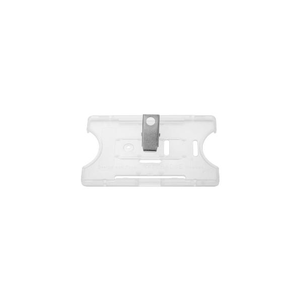 Kortholder Safebadge transp, horisontal
