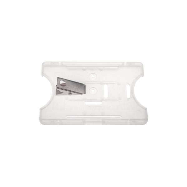 Kortholder Safebadge transp, vertikal