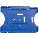 Kortholder Safebadge blå, vertikal