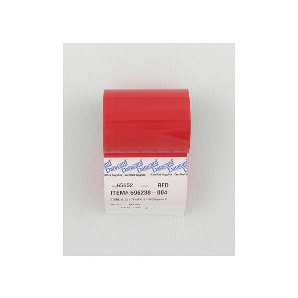 Fargebånd Datacard Rødt (PMS 200C) ICS/ICE,280 (900 kort)