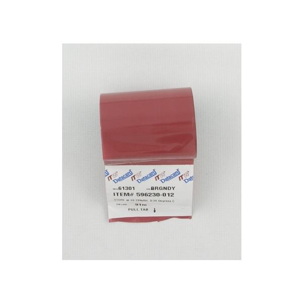 Fargebånd Datacard Burgunder (PMS 201C) ICS/ICE,280 900 kort