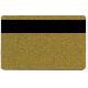 Plastkort Gull med Loco magnetstripe (300 oersted)