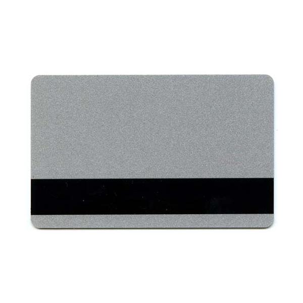 Plastkort Sølv med Loco magnetstripe (300 oersted)