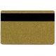 Plastkort Gull med HiCo magnetstripe (2750 oersted)