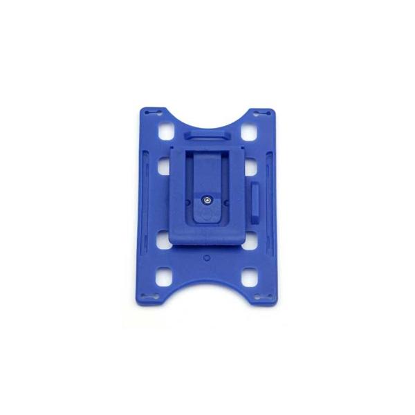 Kortholder Cardkeep blå, vendbar plastklips
