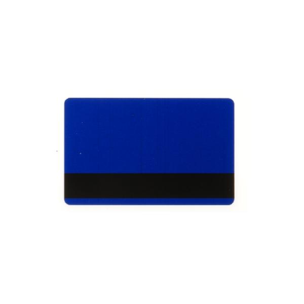 Plastkort Blått med HiCo magnetstripe (2750 oersted