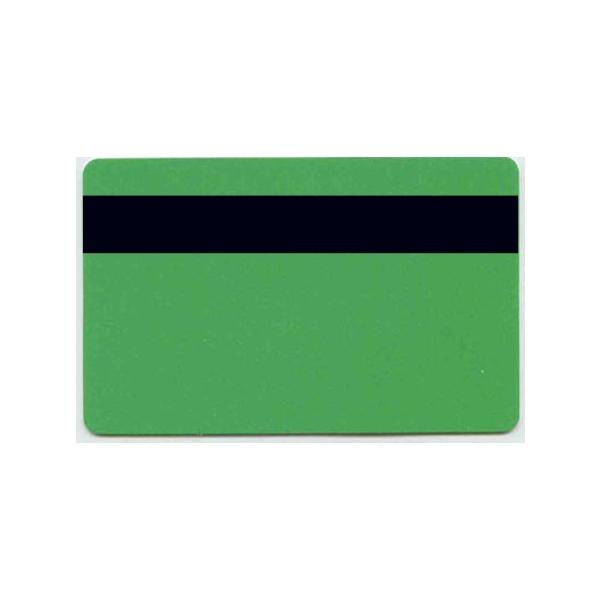 Plastkort Grønn med HiCo magnetstripe (2750 oersted