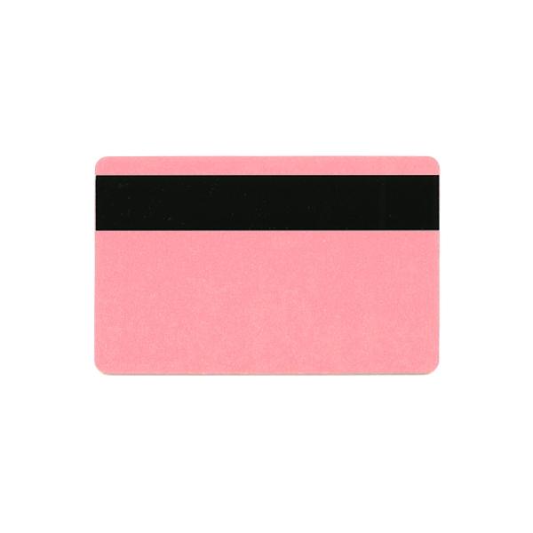 Plastkort Lys Rød med HiCo magnetstripe (2750 oersted