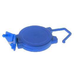 Jojo med bøyle og plastklemme for kort med hull blå