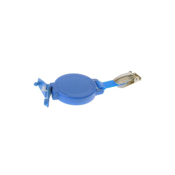 Jojo med bukseselekl. og plastkl. for kort med hull blå