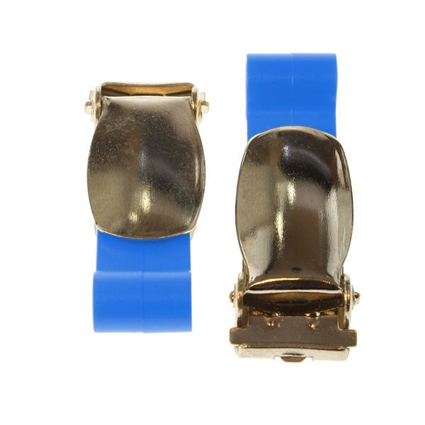 Klips buksesele med plastkrok blå