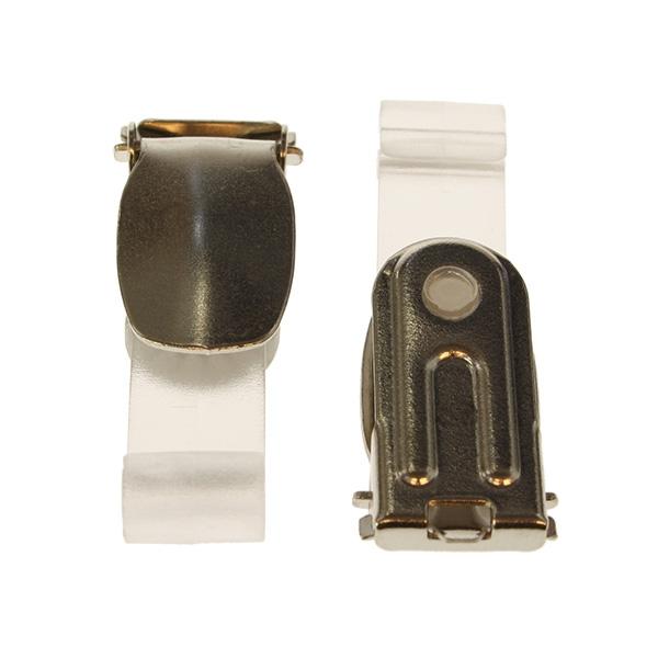 Klips buksesele med plastkrok transparent