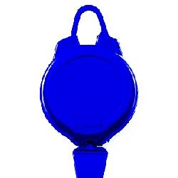 Jojo m/bøyle ampers plast klemme for kort med hull blå