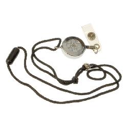 Snor sikkerhet sort med liten jojo og plastklemme