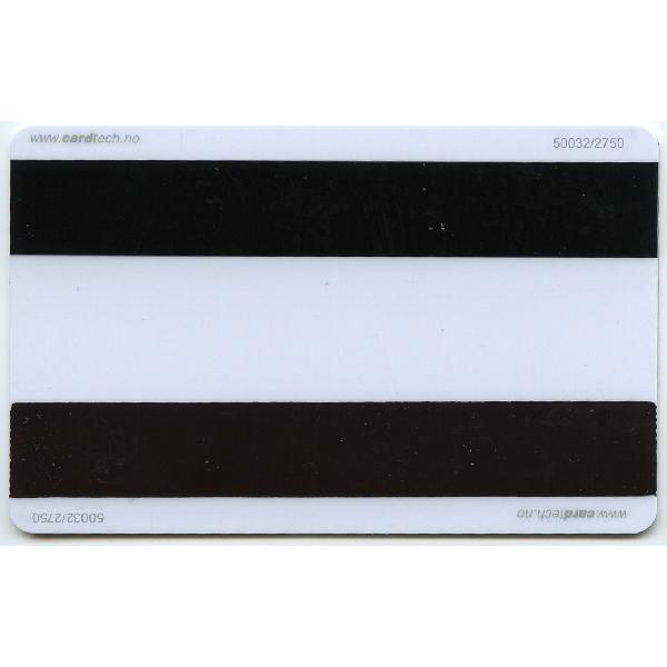 Plastkort hvite med 2x2750Hico + Mifare 1k