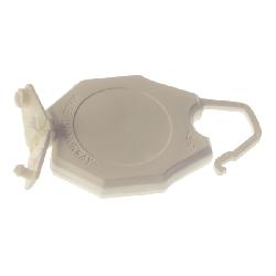 Jojo med bøyle og plastklemme for kort med hull hvit