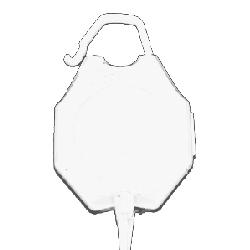 Jojo m/bøyle og krok hvit