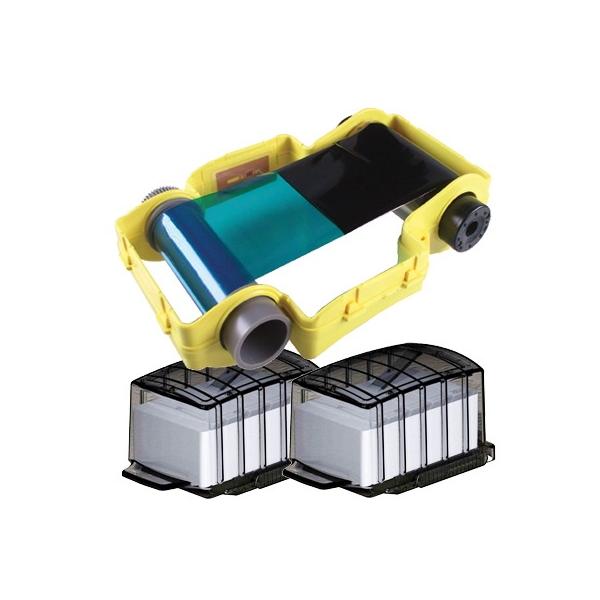PCF10 - 100 Lim kort i 2 kassetter + 100 korts Fargebånd