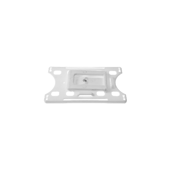 Kortholder Cardkeep2 hvit, vendbar plastklips