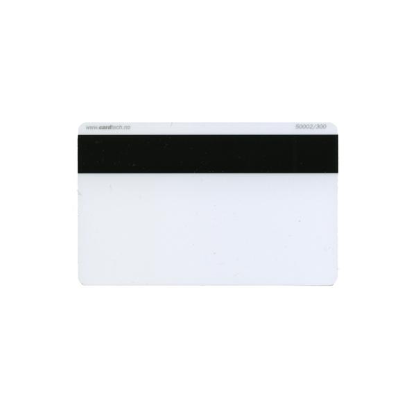 Plastkort hvite med LoCo magnetstripe (300 oersted)