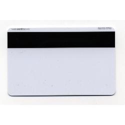 Plastkort hvite med HiCo magnetstripe (2750 oersted)