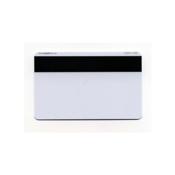 Plastkort hvite med HiCo magnetstripe (4000 oersted)