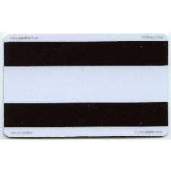 Plastkort hvite med 2x magnetstripe (HiCo2750 x HiCo2750)