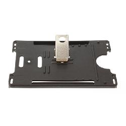 Kortholder Cardkeep sort m/klype, horisontal