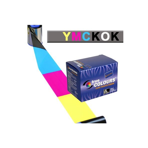 Fargebånd Zebra YMCKO panel - 200 kort JAVELIN