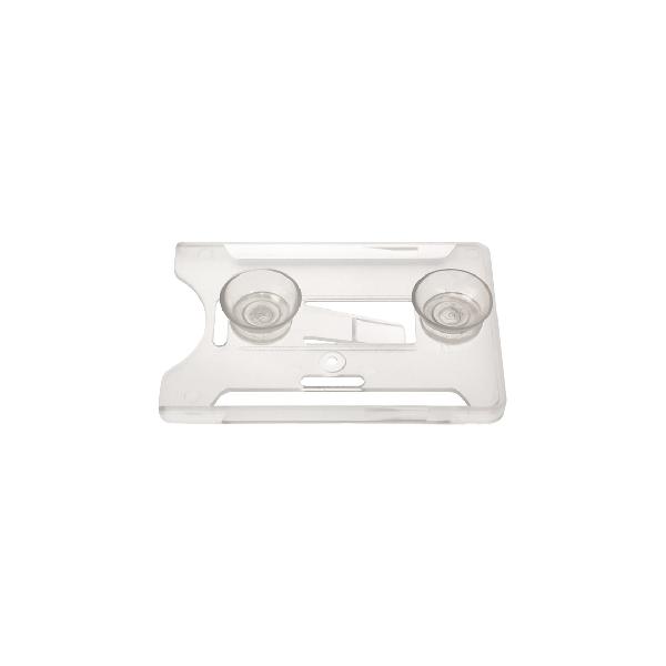 Kortholder Cardkeep5 transp, Vertikal m/ 2x sugekopp