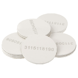 Sticker Mifare 1k 20 mm hvit med serienummer