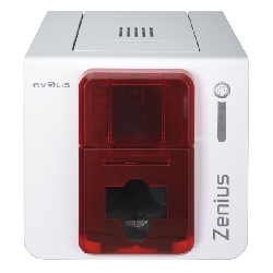 Evolis Zenius Expert Plastkortprinter (RØD)