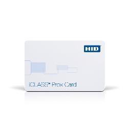 Plastkort hvite iCLASS + HIDProx med HiCo magnetstripe