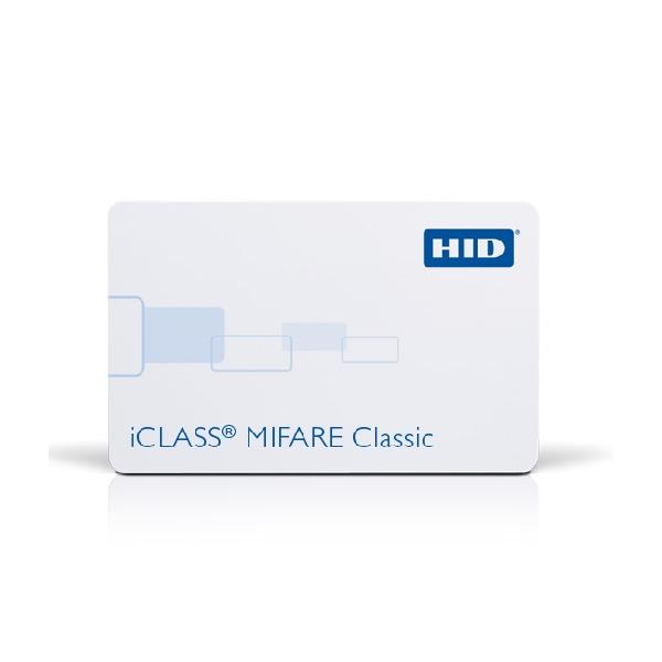 Plastkort hvite iCLASS + Mifare1k med HiCo magnetstripe