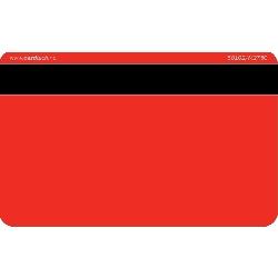 Plastkort rødt Hico 2750 + Mifare 1k