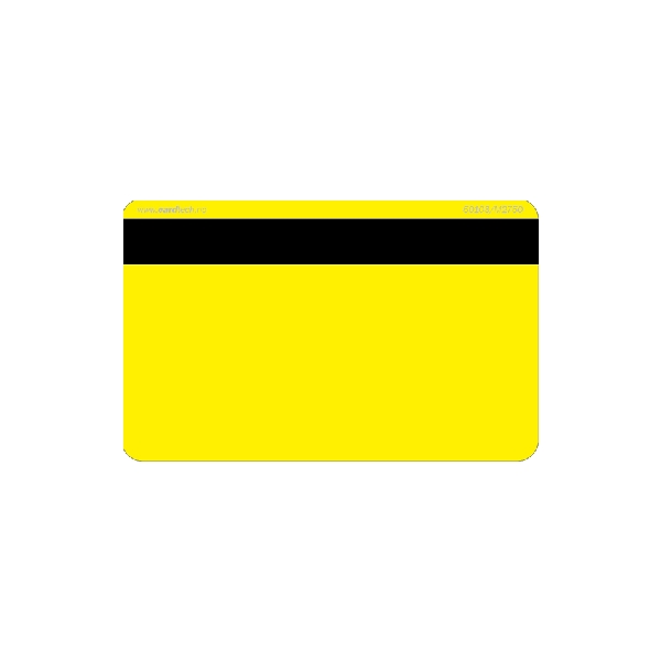 Plastkort gult Hico 2750 + Mifare 1k