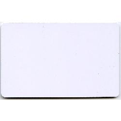Plastkort hvite 0,5 mm nøytrale